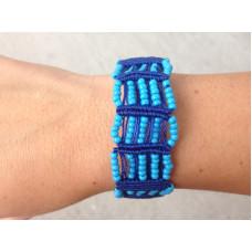 Blue Macrame Bracelet