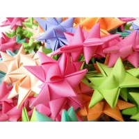 240 Handmade Origami Paper Stars, Assorted colors