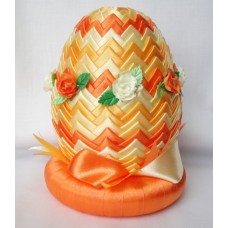 Satin Orange Easter Egg Decoration